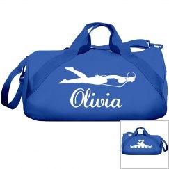 Olivia's swimming bag