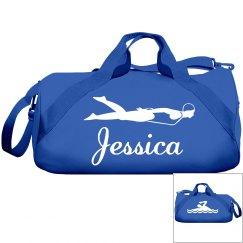 Jessica's swimming bag