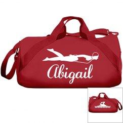 Abigail's swimming bag