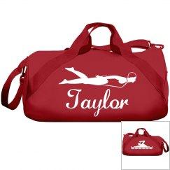 Taylor's swimming bag