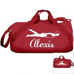Alexis's swimming bag