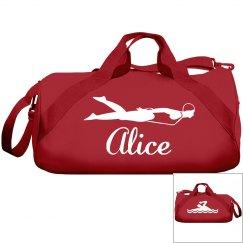 Alice's swimming bag
