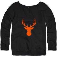 Deer Silhouette Orange