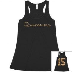 Quinceanera Metallic 15 Shirt