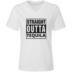 Straight Outta Tequila...Vneck