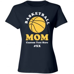 Basketball Rhinestone Mom Shirt