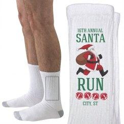 Santa Run Socks
