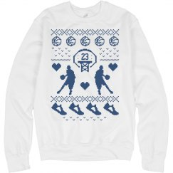 Custom Number Basketball Mom Ugly Christmas Sweater