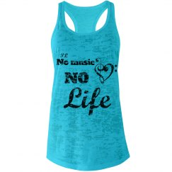 NoMusicNoLife blue Top