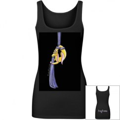 Pony on Aerial Silks (black background) Tank