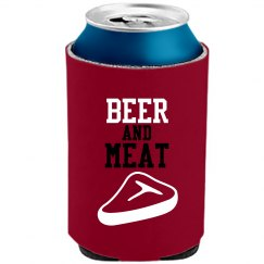 Beer and Meat Koozie