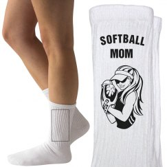 Softball mom socks