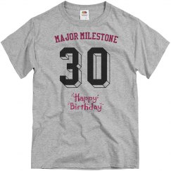 Major milestone, 30th