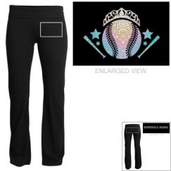 Youth yoga  pants baseball mama
