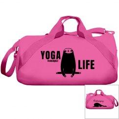 Cute Sloth Yoga Life Duffle Bag
