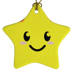 Smiling Star Ornament