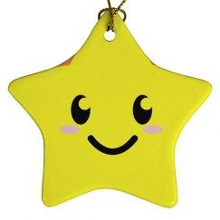 Smiling Star Ornament
