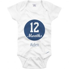 Baby boy Month Marker