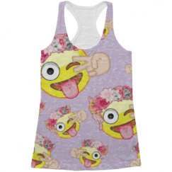 Cute Emoji All Over Print Tank