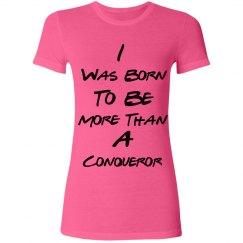 Conqueror Junior Fit Poly Neon Tee(Pink)