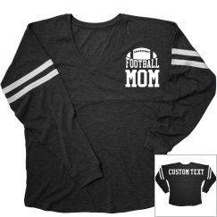 Football Mom Spirit Custom Back