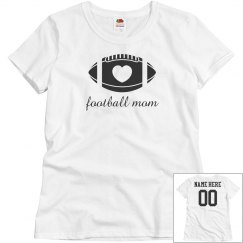 Script Football Mom Custom Back