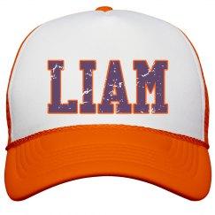 Liam Orange distressed hat