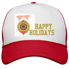 Happy Holidays Peak Cap