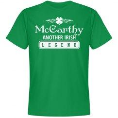 McCarthy another Irish legend