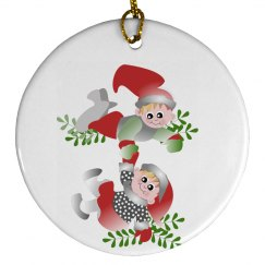 Cute Elves Ornament