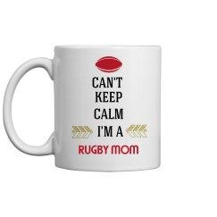 RUGBY MOM COFFEE MUG