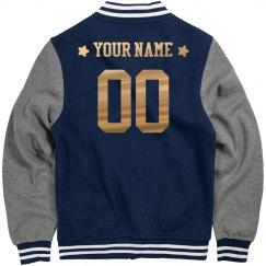 Blue Metallic Star Custom Jacket