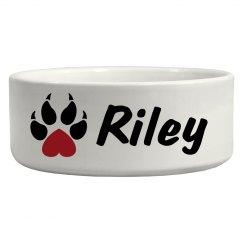 Riley, Dog Bowl!