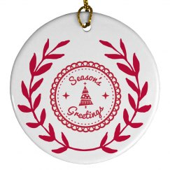 Seasons Greetings Ornament