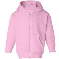 Team Albinism- Toddler Girls Zipper Jacket