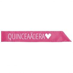 Quinceañera Sash 15th Birthday