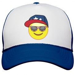 emoji 4th of july hat