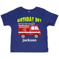 Fire Truck Birthday Boy
