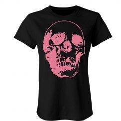Distressed Pink Skull