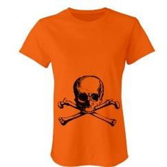 Orange Skull & Crossbones