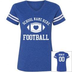 Custom Football Mom Shirts With Custom Name Number