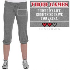 Video Games Ruined My Life Pants