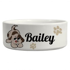 Bailey, Dog Bowl