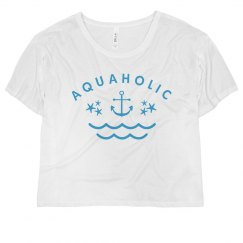 Cute Aquaholic On The Beach