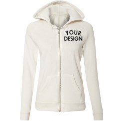 Customizable Crop Zip Hoodie