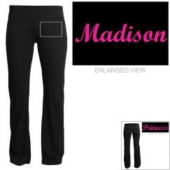 Madison, yoga pants