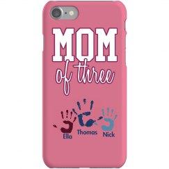 Mom Of 3 iPhone Case
