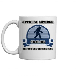 Bigfoot Eyewitness Club Customized Mug