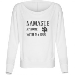Namaste at home with my dog