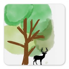 Elk and Tree Magnet